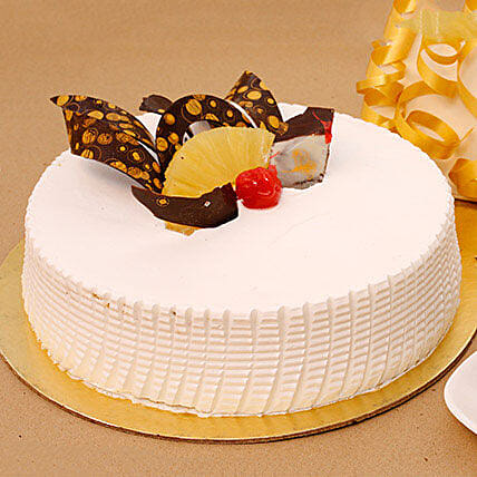 Pineapple Cakes Online Delivery Eggless Pineapple Cake Ferns N