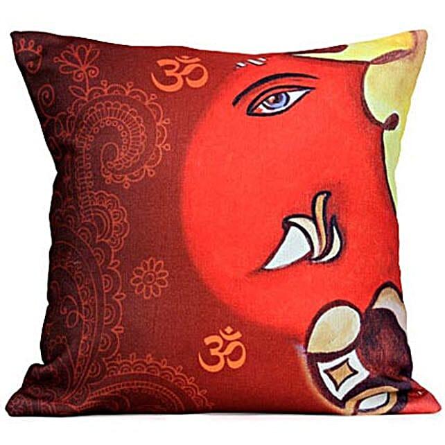 The Divine Lord Ganesha Cushion: Ganesh Chaturthi Gifts
