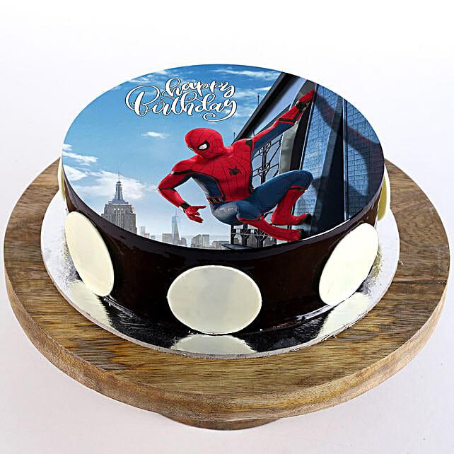 The Spiderman Chocolate Photo Cake: Super Hero Themed Cakes