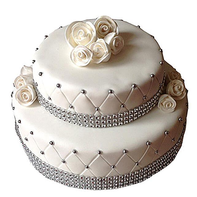 2 Tier Designer Fondant Cake: Designer Cakes