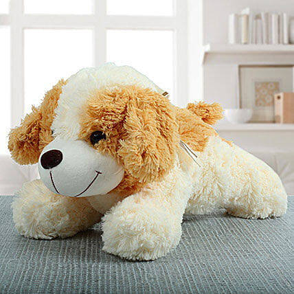 Beige Dog Soft Toy: Toys and Games