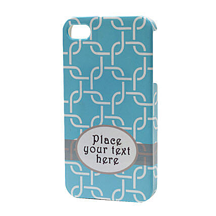 Blue Personalized iPhone Case: Personalised Mobile Covers