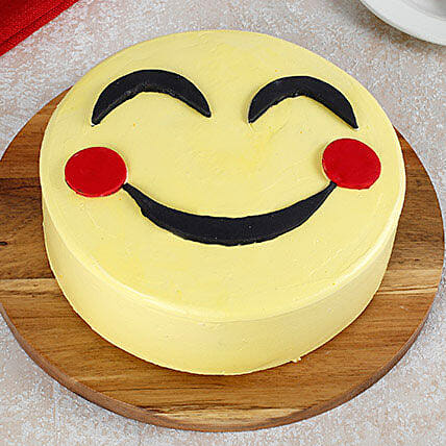 Blush Emoji Cake: Designer Cakes