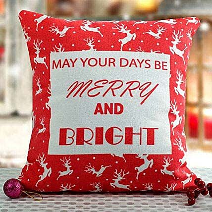 Bright Christmas Cushion: Christmas Gifts For Girlfriend