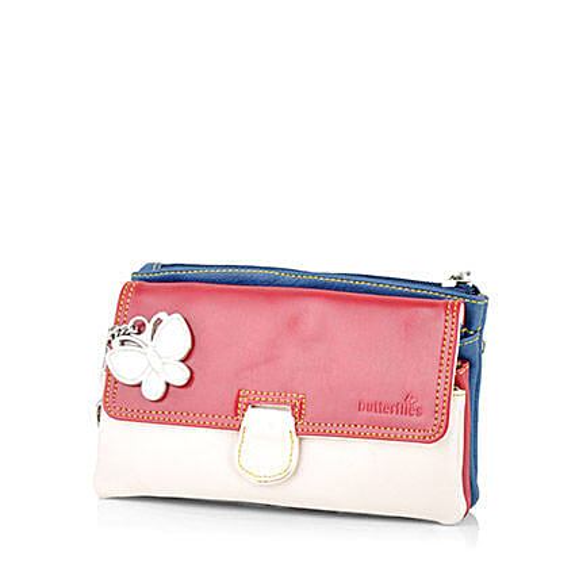 Butterflies Trendy Multicolor Clutch: Handbags and Wallets