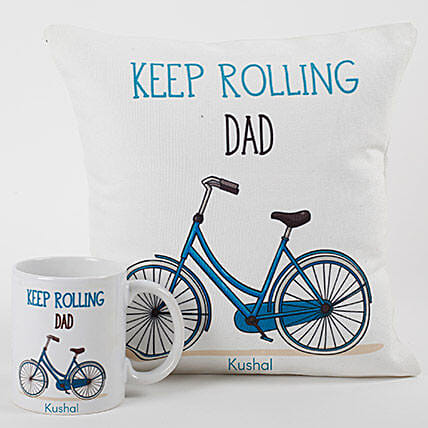 Confient Dad Mug And Cushion Combo: