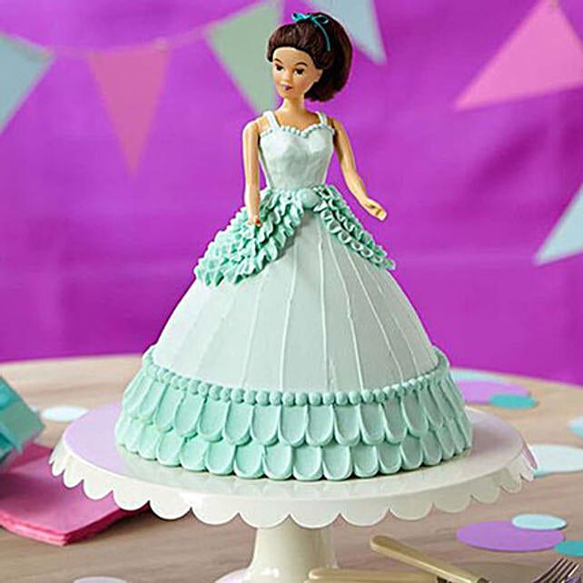 Cool Blue Barbie Cake: