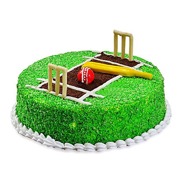 Cricket Pitch Cake: Send Designer Cakes