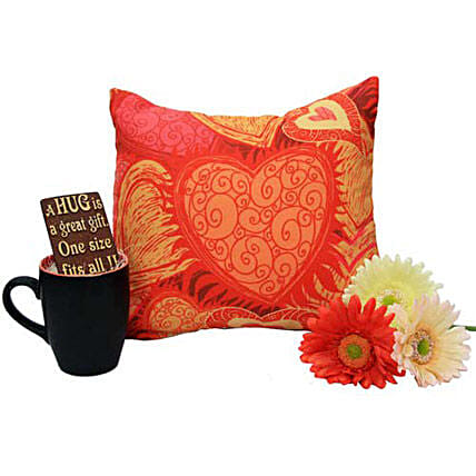 Cushion Empowering Love: Artificial Flowers