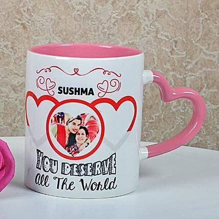 Full Of Love Personalized Mug: Custom Photo Coffee Mugs