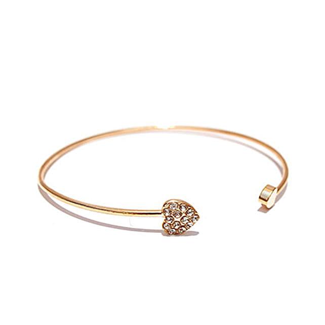 Gold Heart Bracelet: Fashion Accessories