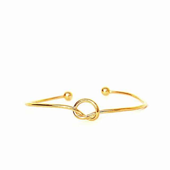 Gold Knot Bracelet: Send Jewellery Gifts
