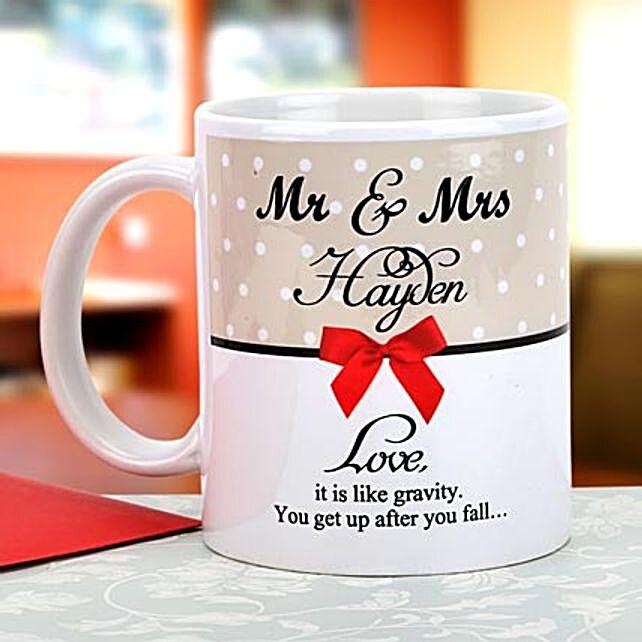 Gravity of love: Send Personalised Mugs to Delhi