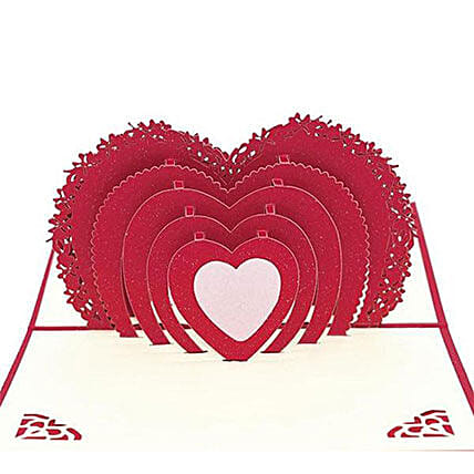 Handmade 3D Pop Up Heart Greeting Card: Funny Gifts