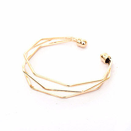 Hexagon Gold Bracelet: Accessories