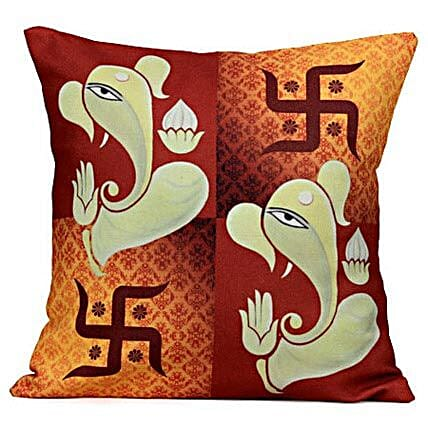 Lord Ganesha Cushion: Spiritual Gifts