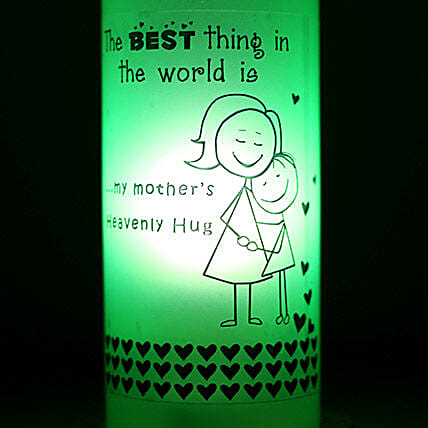 Mothers Hug Bottle Lamp: Send Mothers Day Gifts to Tirupur