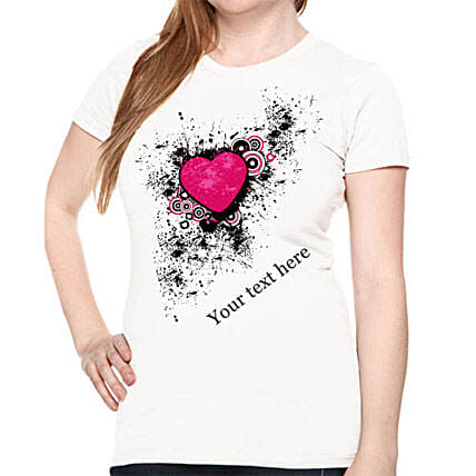 Personalize Your Heart T shirt For Her: Personalised T Shirts