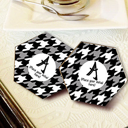 Personalized Letter Coasters: Gifts to Palwal