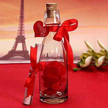 Personalized Love Message Bottle: Friendship Day Gifts Bhopal