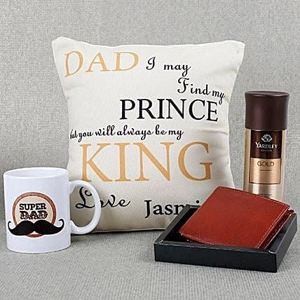 Personalized Super Dad Combo: Fathers Day Gift Hampers