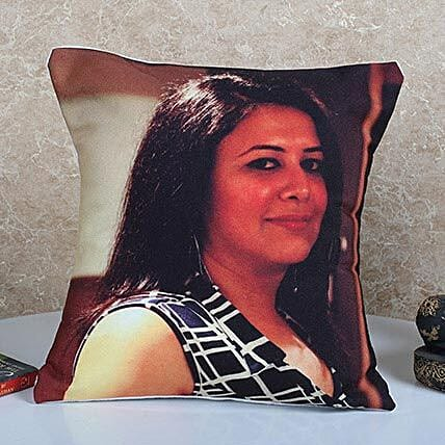 Personalized Vibrant Cushion: Personalised Cushions for Bhai Dooj