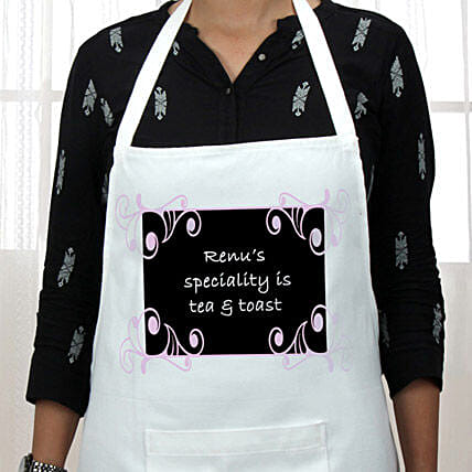 Personalized Why Not Treat Urself: Aprons