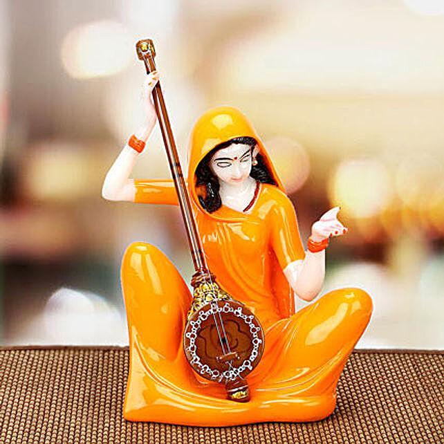 Premium Marble Mirabai Idol: Send Handicraft Gifts to Ghaziabad