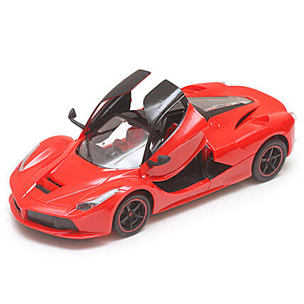 Red Rechargeable Toy Ferrari: Kids Toys & Games
