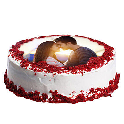 Red Velvet Photo Cake: Red Velvet Cakes Delivery