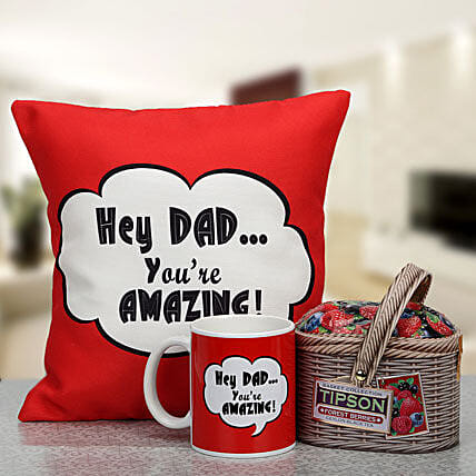 Relax And Sip: Cushions and Mugs Combo