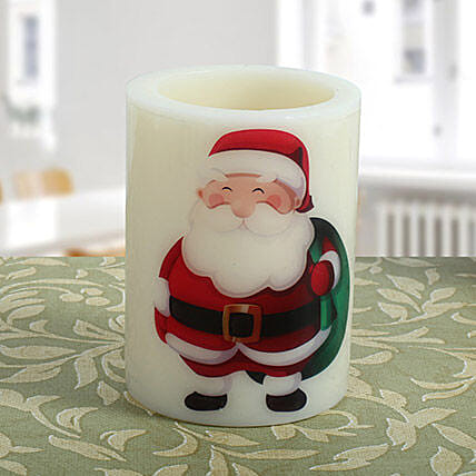 Santa Hollow Candle: Xmas Gifts for Kids