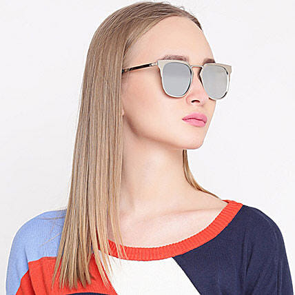 Silver Wayfarer Unisex Sunglasses: Fashion Accessories