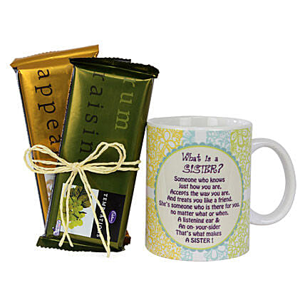 Sister Mug and Chocolates Combo: