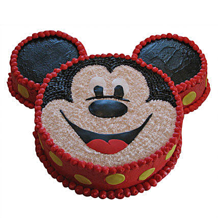 Smiley Mickey Mouse Cake: