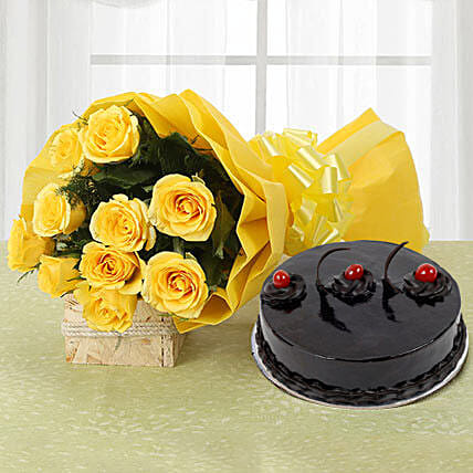 Yellow Roses and Cake: Flower Combos