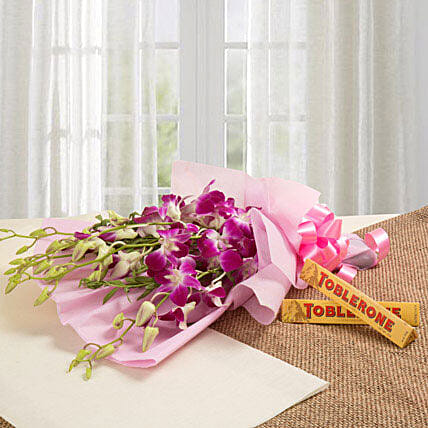 Brighten Their Day Combo: Send Orchids