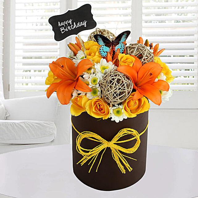 Sunny Floral Arrangement: Fresh Flower Arrangement