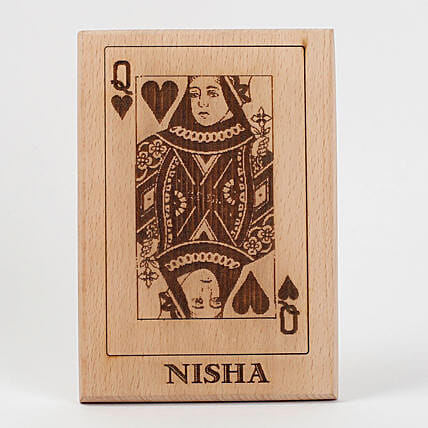 Queen of Hearts Wooden Plaque: Table tops