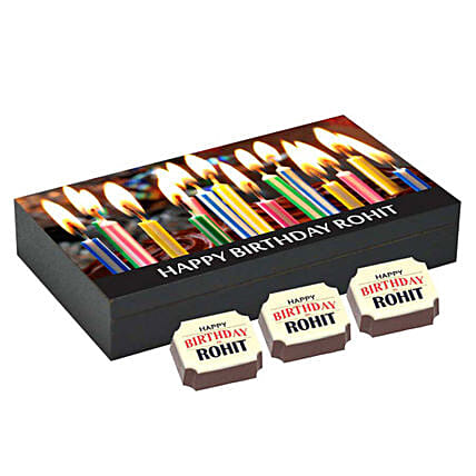 Personalised 6 Chocolate Box For Birthday: Personalised Chocolates Lucknow