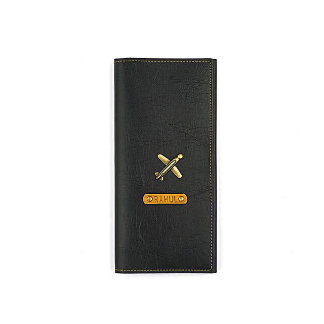 Black Travel Folder: