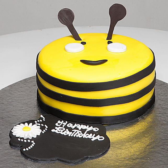 Bumblebee Birthday Cake: