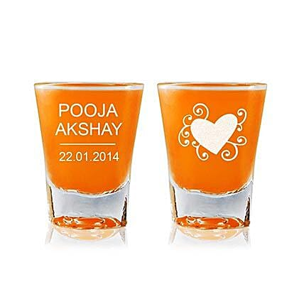 Personalised Set Of 2 Shot Glasses 2295: