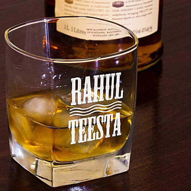 Personalised Set Of 2 Whiskey Glasses 1059: Personalised Glassware