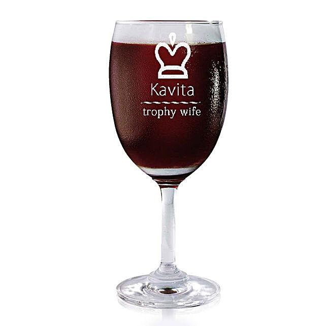 Personalised Set Of 2 Wine Glasses 2177: