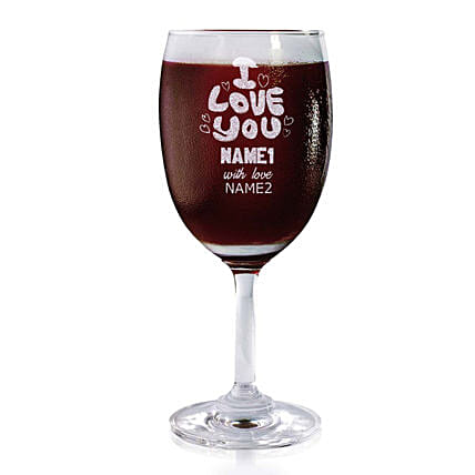 Personalised Set Of 2 Wine Glasses 2183: Bar Accessories