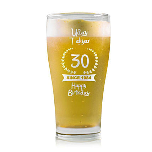 Personalised Beer Glass 1457: Personalised Beer Glasses