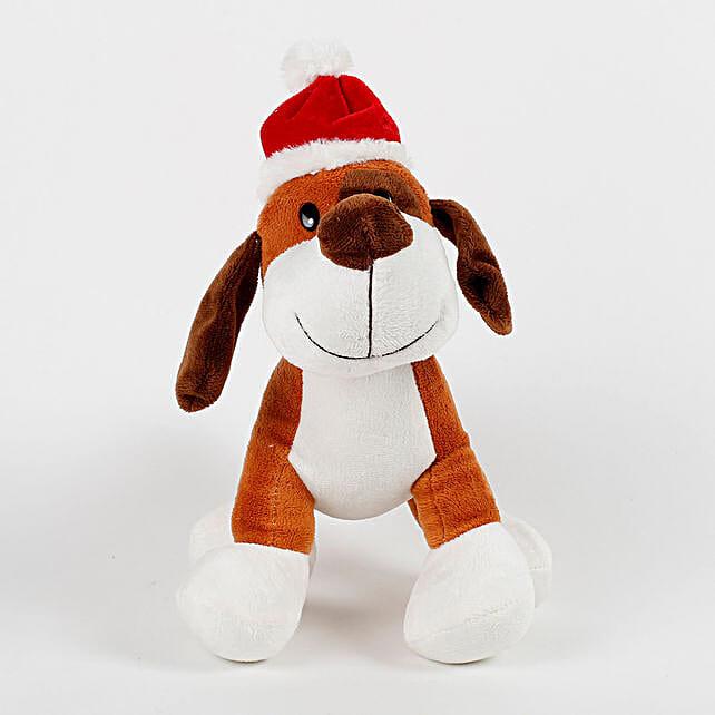 Santa Dog Stuffed Toy: Soft Toys Gifts