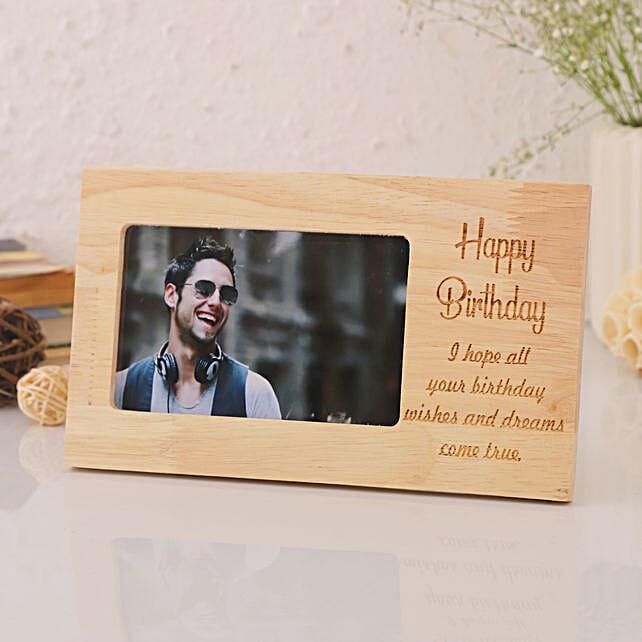 Personalised Birthday Engraved Frame: Personalised Engraved