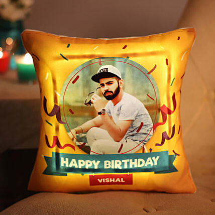 Personalised Birthday LED Cushion: Personalised Cushions